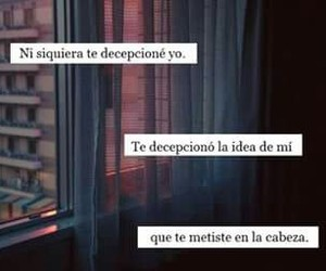 frases, tumblr, and decepcion image