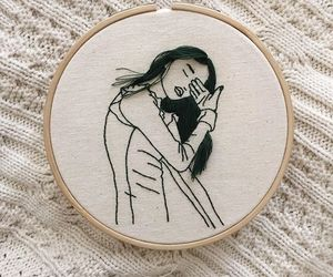 girl, embroidery, and fashion image