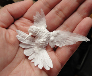 bird, art, and Paper image