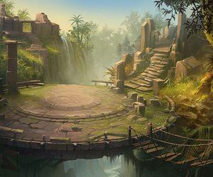 bridge, fantasy, and jungle image