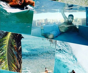 blue, Collage, and surf image