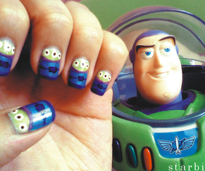 nails, toy story, and buzz lightyear image