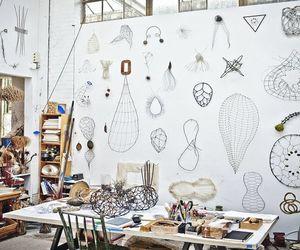 art, artist studio, and home office image