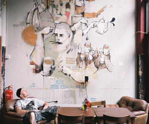 art, wall, and painting image
