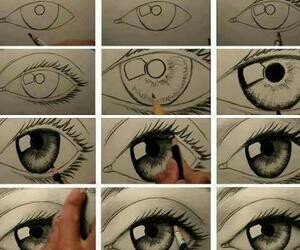 eyes, eye, and drawing image