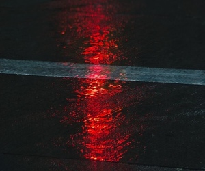 red, road, and light image