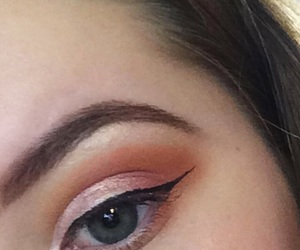 baby pink, black, and eye image