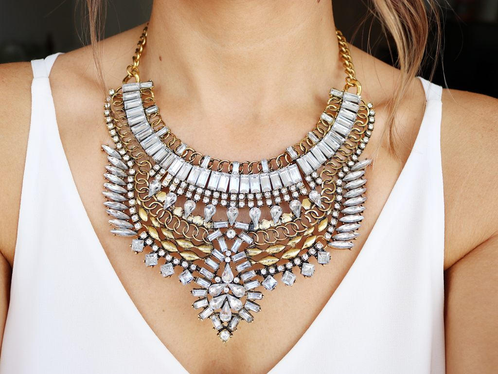 accessories, boho, and crystal necklace image