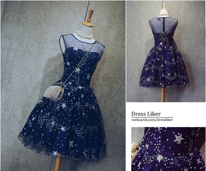 beads, navy blue, and celebrity dresses image