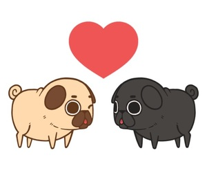 pug, cute, and love image