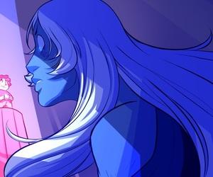su, blue diamond, and steven universe image