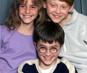 daniel radcliffe, harry potter, and emma watson image