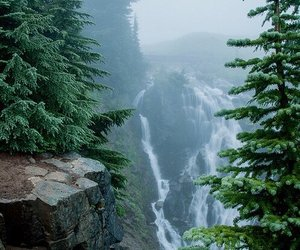 landscape and waterfall image