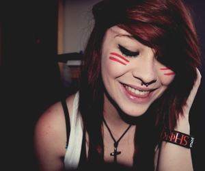 girl, piercing, and smile image