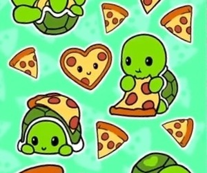 pizza, turtle, and cute image