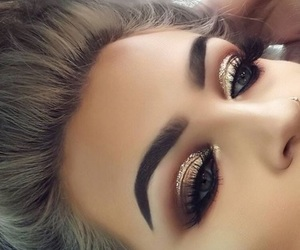beautiful, eyes, and look image
