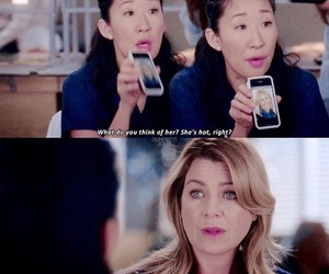 lol, meredith and cristina, and grey's anatomy image