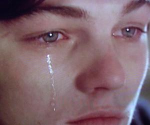 boy, tears, and leonardo dicaprio image