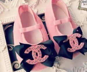 chanel, pink, and baby image