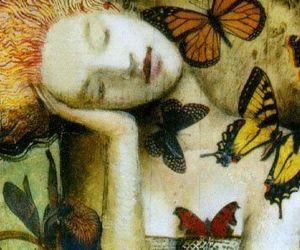 art, butterflies, and delirium image