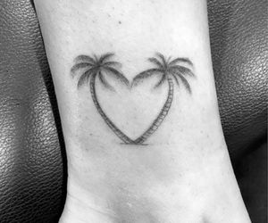 tattoo, beach, and heart image