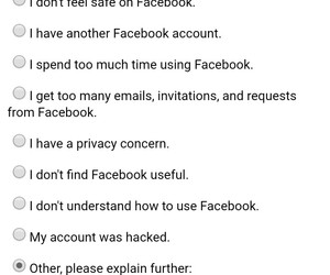 facebook and deactivate image
