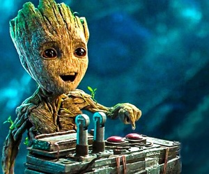 groot, cute, and brindille image