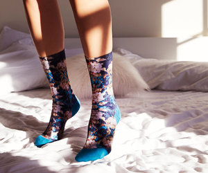 floral, sock, and socks image