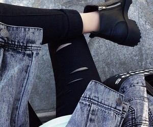 fashion, black, and grunge image