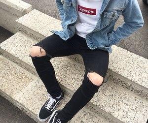 boy, fashion, and supreme image