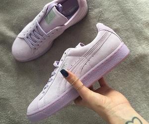 puma, shoes, and purple image