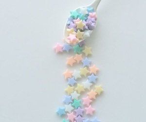 pastel, stars, and spoon image