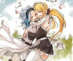 levy, Lucy, and fairy tail image