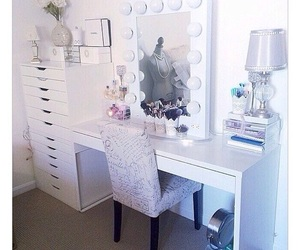 bedroom, dressing table, and home image