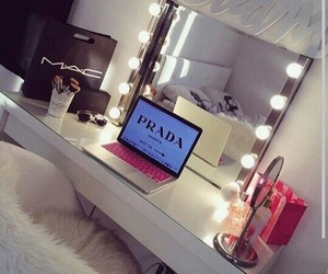 bedroom, interior, and makeup image