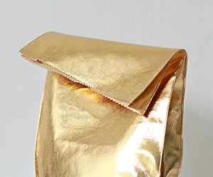 bag, gold, and golden image