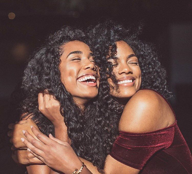 curls, curl friends, and smile image