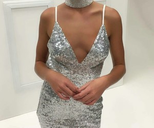 Couture, dress, and silver image