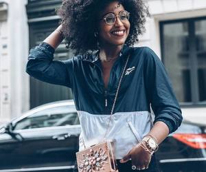 curls, fashion, and afro hair image
