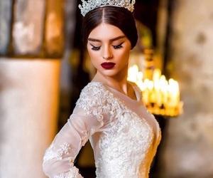 fashion, crown, and dress image