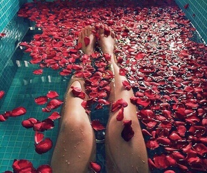 roses and bath image
