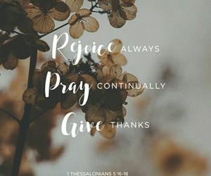 god, pray, and give image