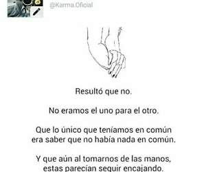 amor, frases, and manos image