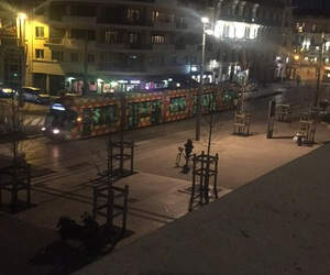 montpellier, night, and tram image