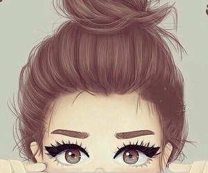 beautiful, eyes, and hairstyle image