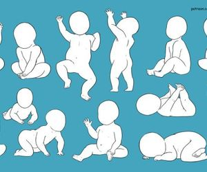 baby, draw, and poses image