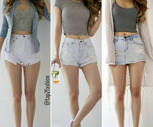 clothes, fashion, and jean shorts image