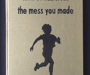 mess, book, and run image