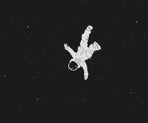 astronaut, space, and floating image