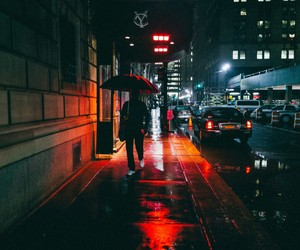 city, street, and red image